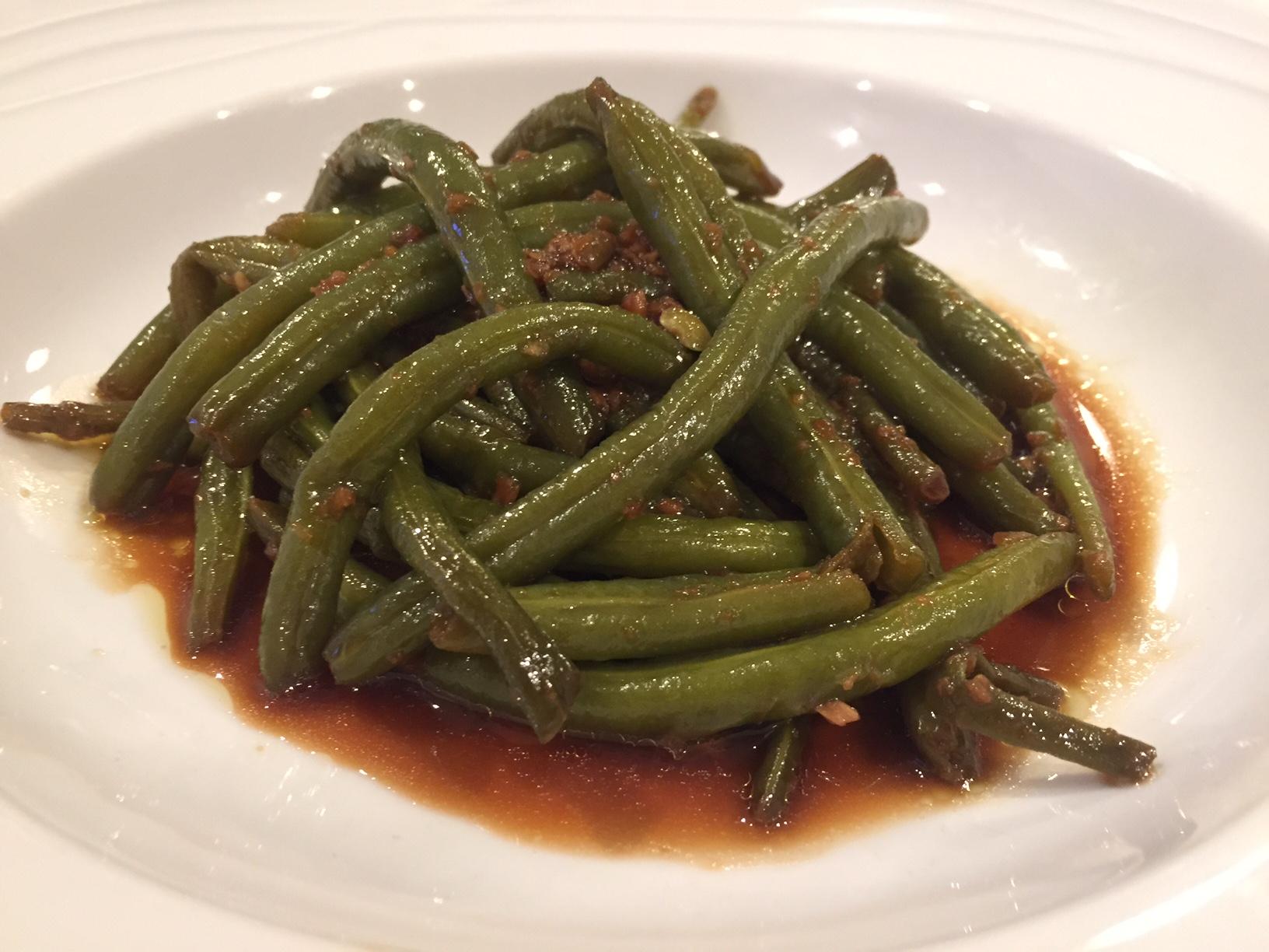 Judias verdes crujientes con salsa de ajos caramelizados Thermomix®