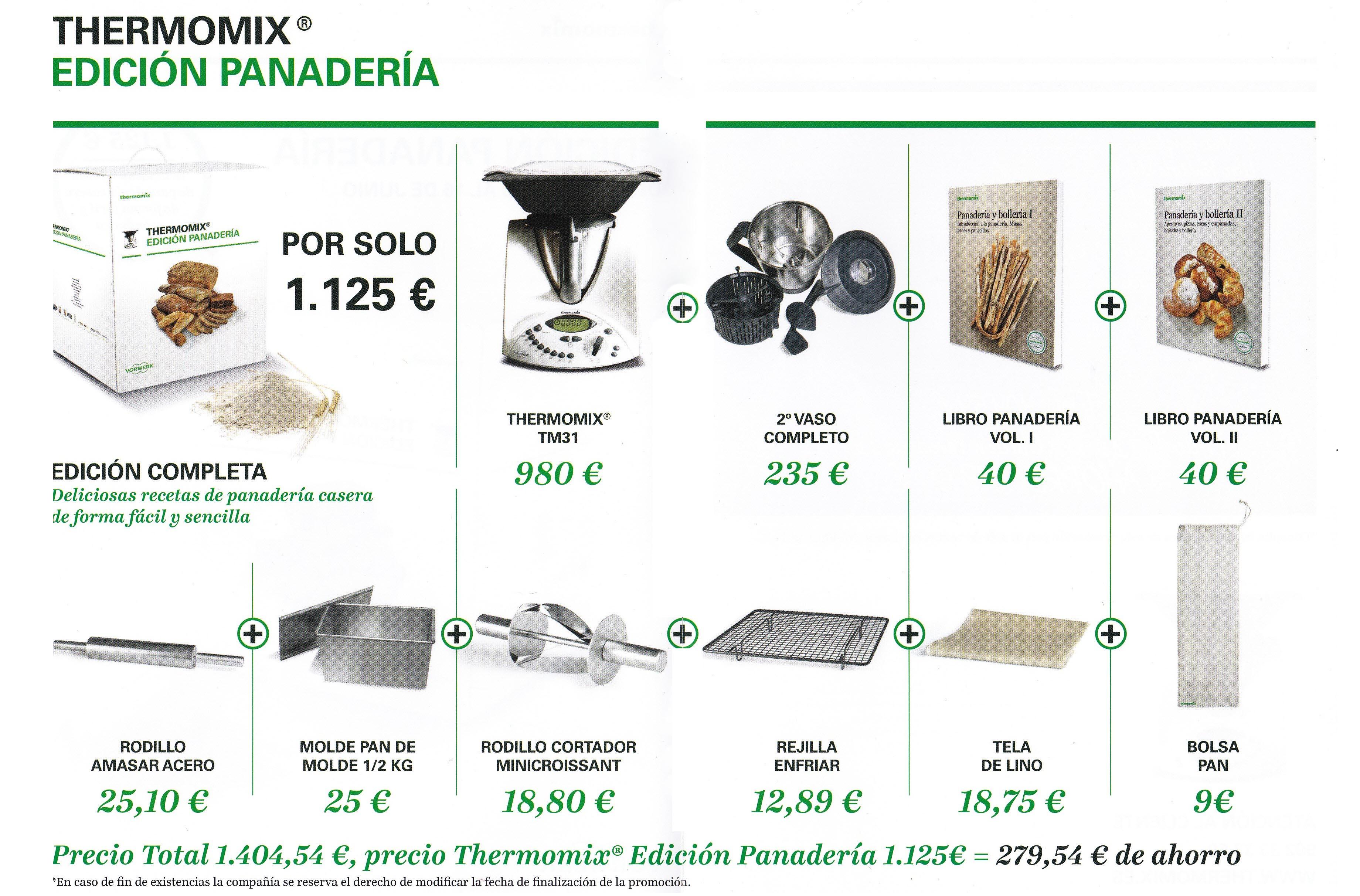 Edición Panadería: 279,54€ de ahorro!!!
