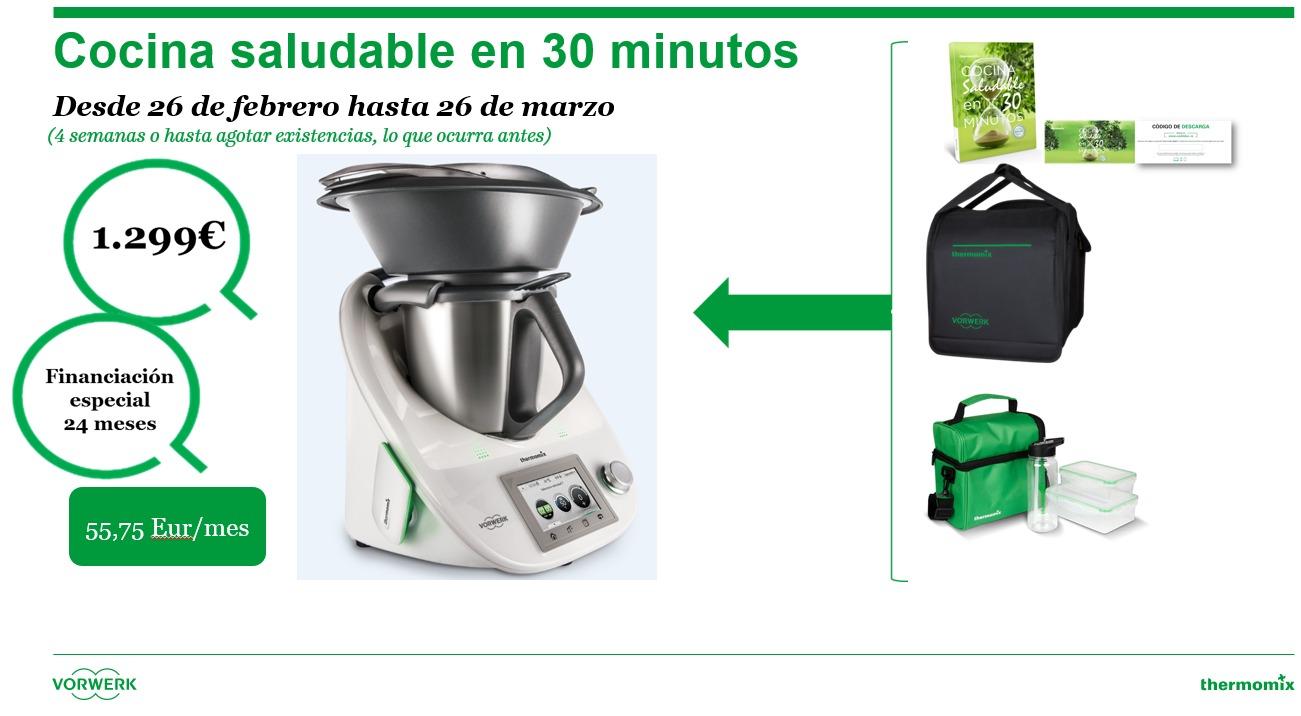 Nueva edici n de thermomix cocina saludable en 30 for Cocinar en 30 minutos