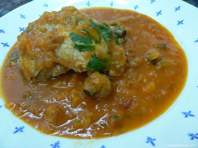 Cuartos traseros de pollo con verduras y champiñones Thermomix®