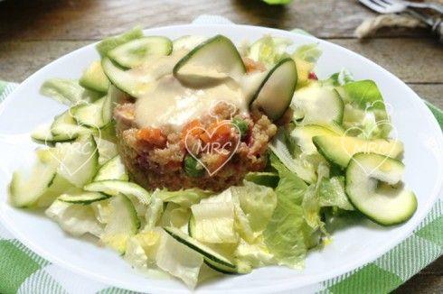 Ensaladilla rusa de quinua o quinoa con mahonesa de alcachofa