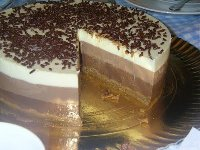 Tarta a los 3 chocolates con Thermomix®