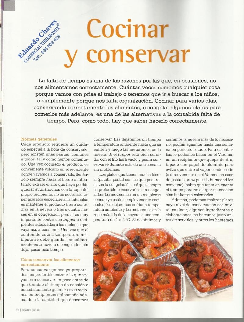 La conservacion de los alimentos
