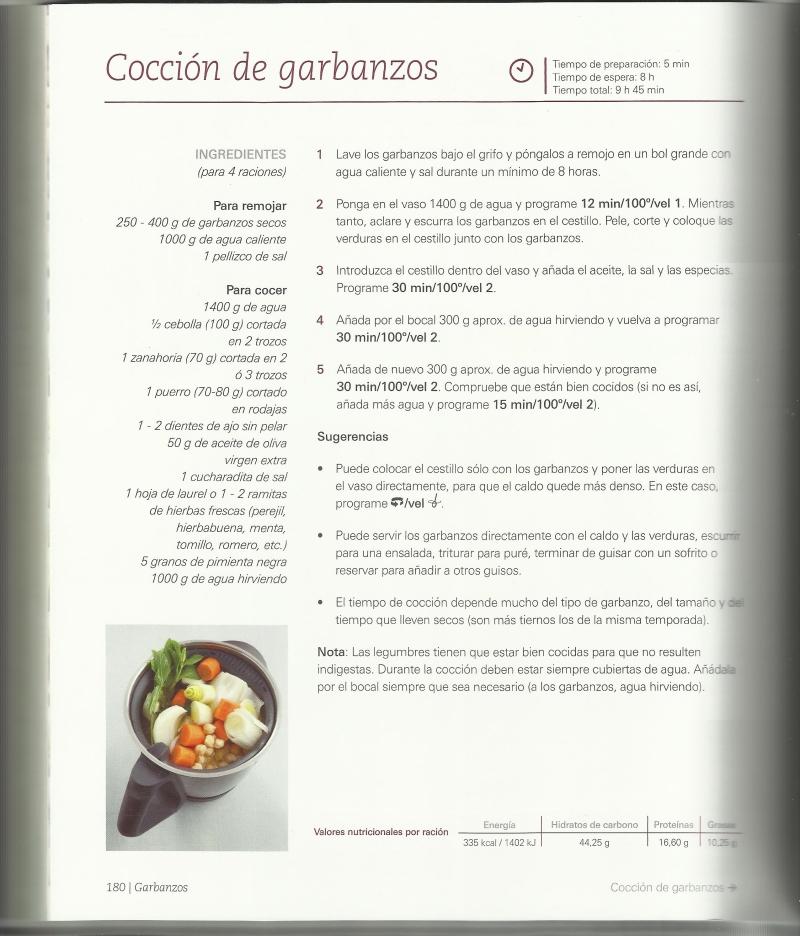 Coccion de legumbres con Thermomix®