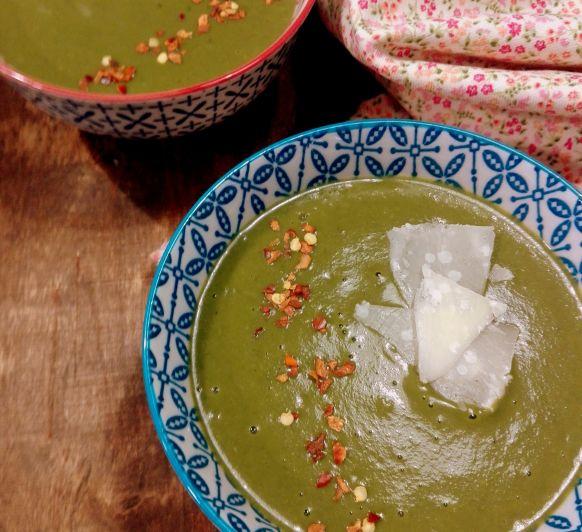 Crema de espinacas y bimi en Thermomix®
