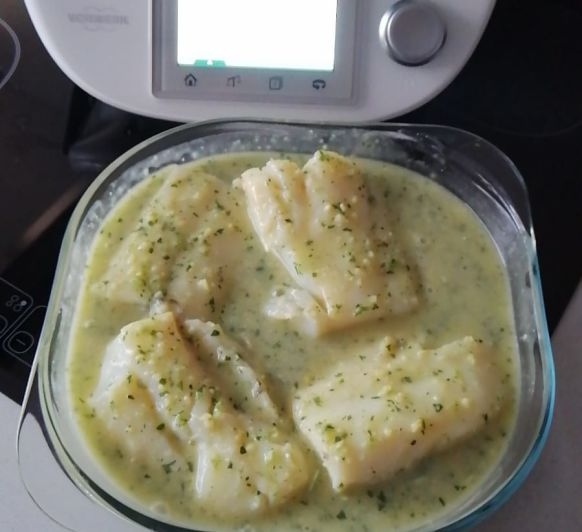 BACALAO EN SALSA VERDE by Chari con Thermomix®