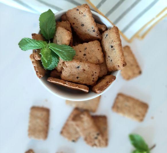 GALLETAS SALADAS, con nueces, aceitunas y parmesano
