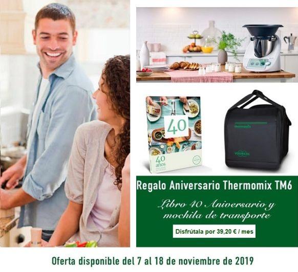 COMPRA TU Thermomix® TM6 AHORA Y TE REGALAMOS LA BOLSA DE TRANSPORTE Y EL LIBRO DEL 40 ANIVERSARIO GRATIS