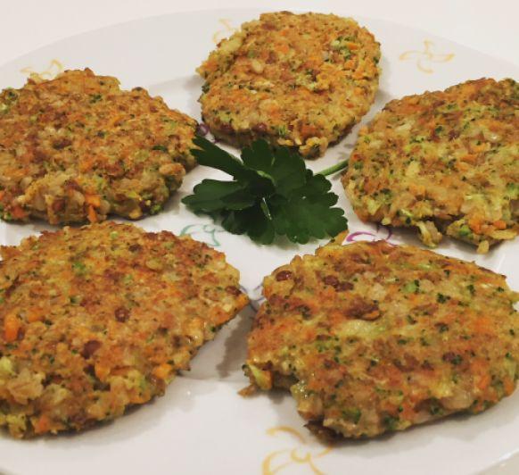Hamburguesas de Brócoli, lentejas y Arroz Integral Thermomix®