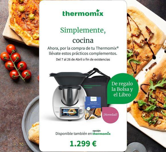 ¡ÚLTIMO DÍA! BOLSA DE TRANSPORTE Y LIBRO PIZZA PARTY DE REGALO. Compra tu Thermomix® desde 31,48 € al mes.