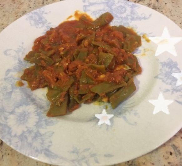Judías verdes con Tomate - Mi cena estrella del verano