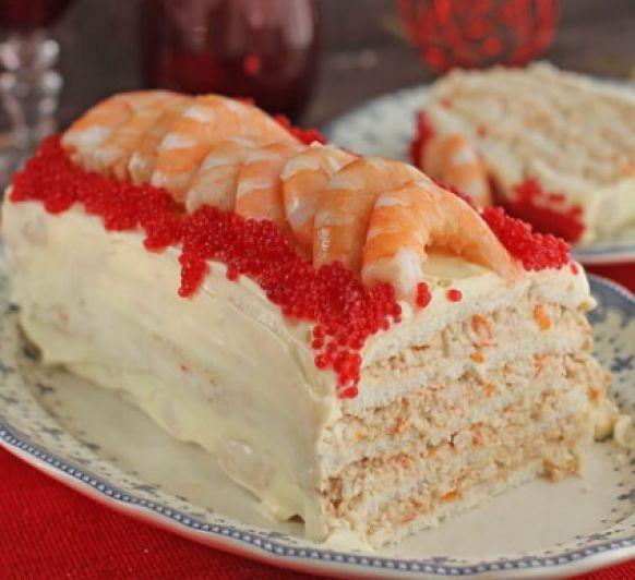 Pastel de langostinos y pan de molde con Thermomix®