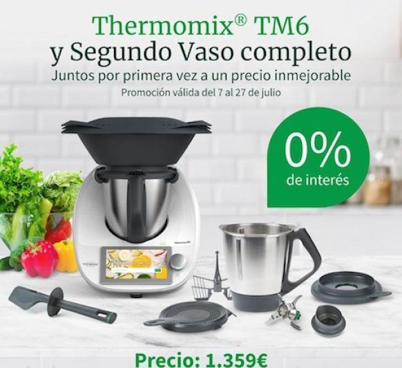 Thermomix® Tm6 y Segundo Vaso completo, 0% sin intereses