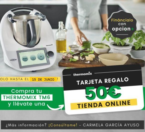 Compra tu Thermomix® Tm6 y llévate 50€ de regalo en la tienda online