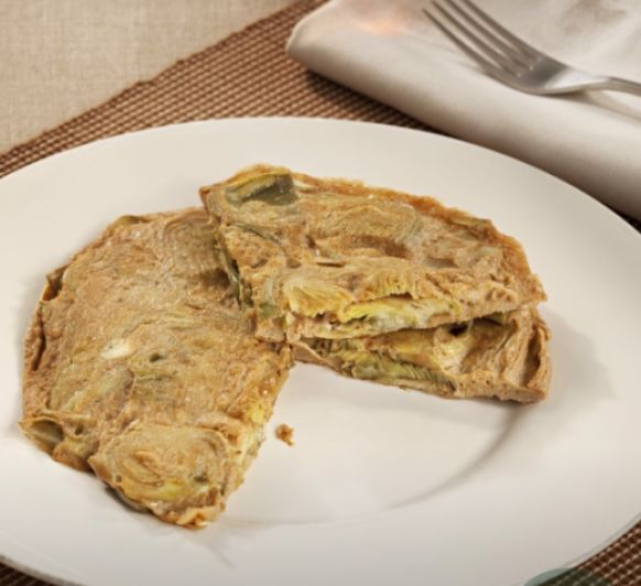 Tortilla de alcachofas con Thermomix®