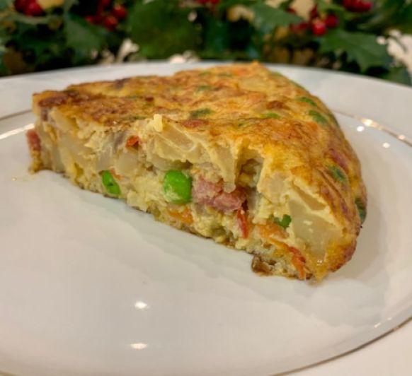 Tortilla paisana con Thermomix® y 3 opciones de Edición Navidad