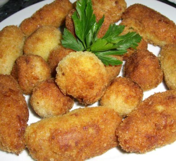 Croquetas de jamón serrano y pollo sin gluten