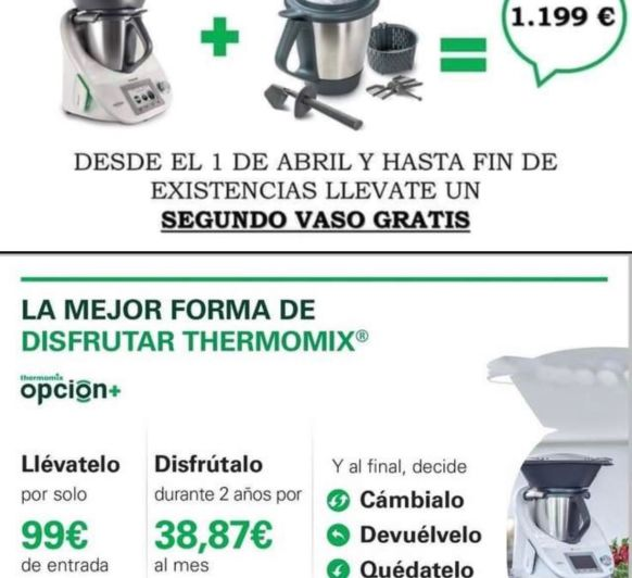 OPORTUNIDAD ULTIMOS Thermomix® TM5 CON DOBLE VASO!!! POR SOLO 1199€!!!