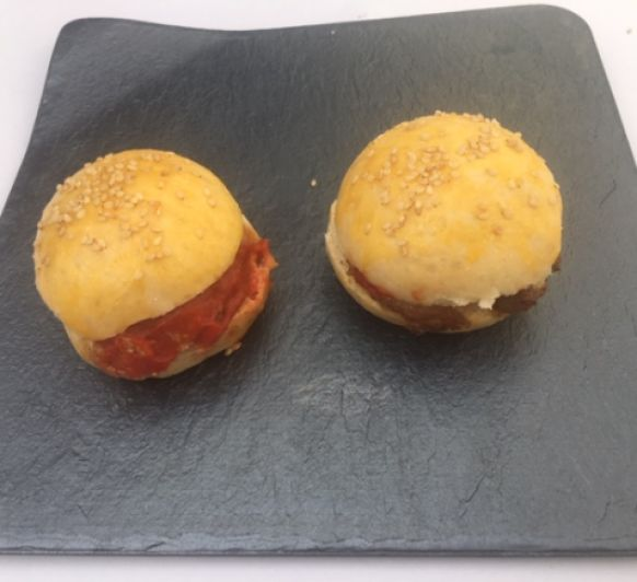 Pan para Hamburguesa y hamburguesa de bacalao