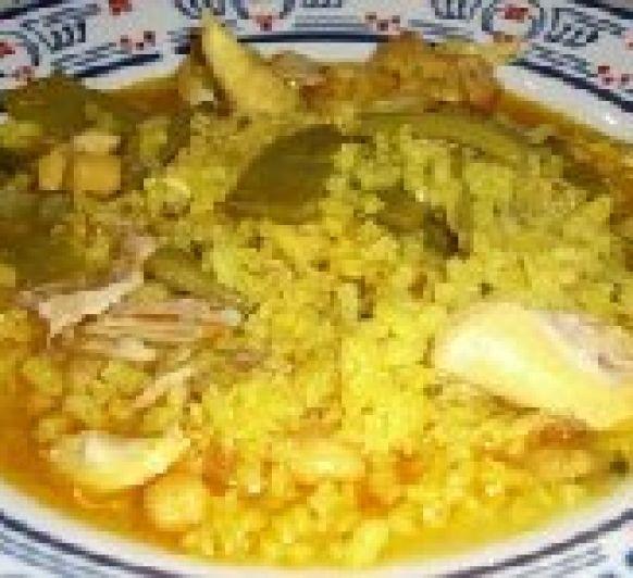 Arroz caldoso de pollo con verduras con Thermomix®