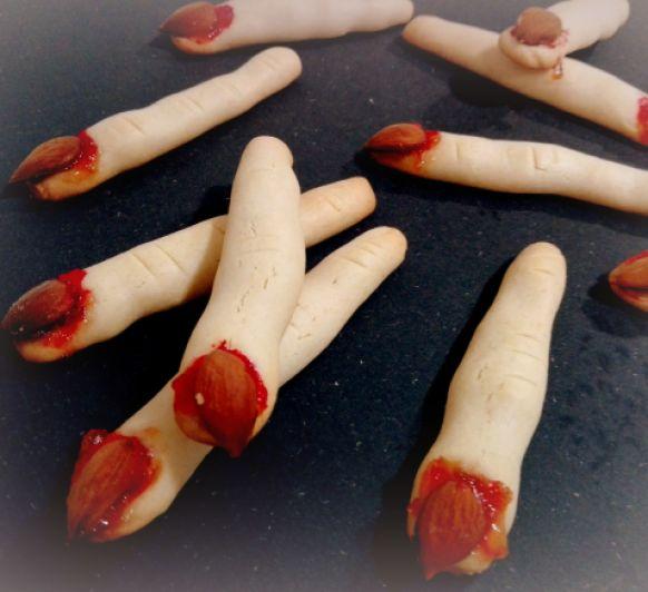 Dedos de bruja para Halloween