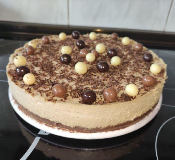 CHEESECAKE DE CHOCOLATE Y CAFÉ BY SONIA CON Thermomix®