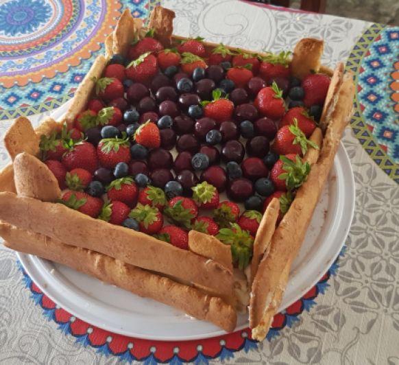 Tarta caja de fruta by Montse con.Thermomix®