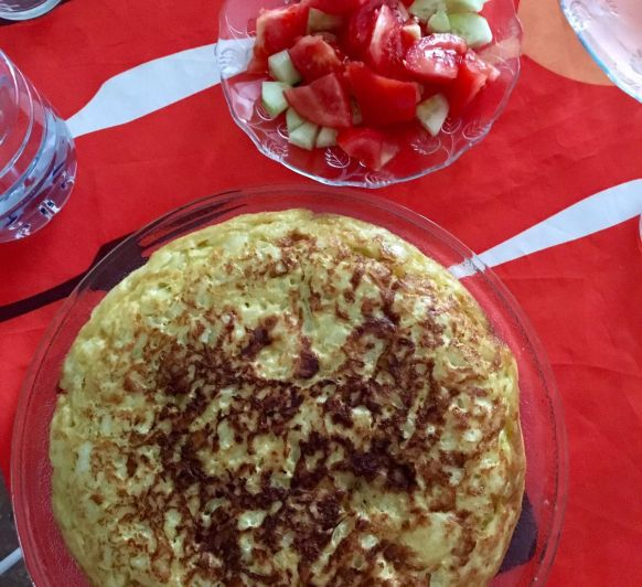 Tortilla de patata y cebolla by Maika con Thermomix®