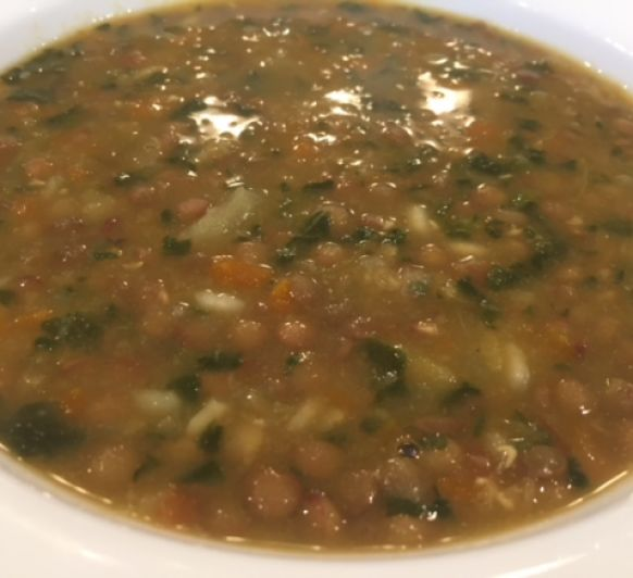 Lentejas con verduras, arroz y alga Nori con Thermomix®
