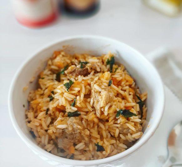 PILAF DE CERDO, exquisito arroz oriental listo en 30 minutos