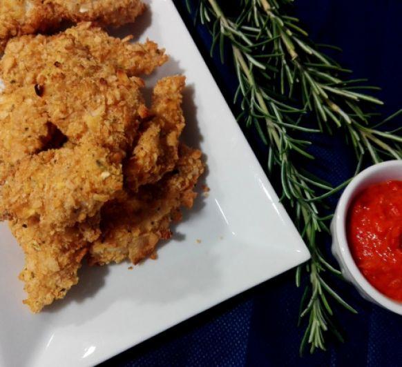 Fingers de pollo con salsa picante en Thermomix®