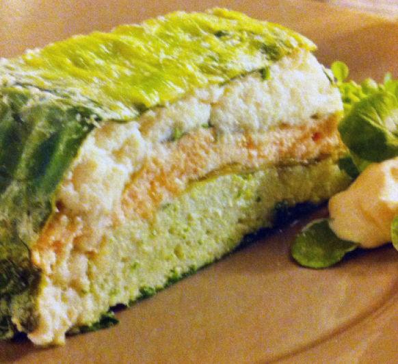 Pastel de pescado y espinacas