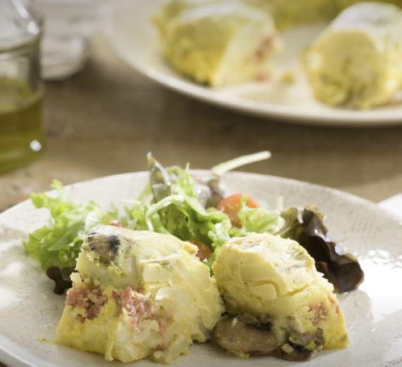 Tortilla de patata mediterranea con Thermomix®