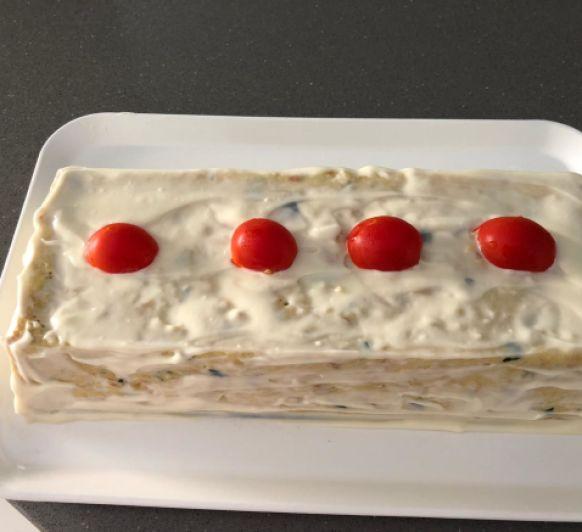 Pastel de calabacín y bonito con Thermomix®