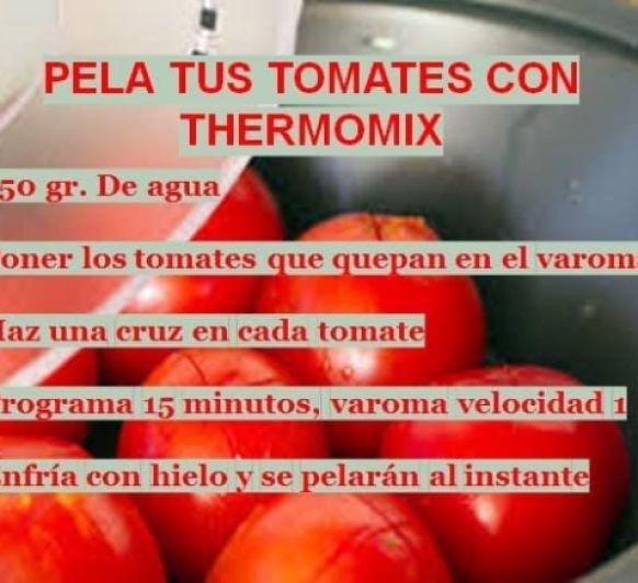 PELA TUS TOMATES CON Thermomix®