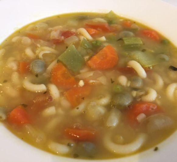 Sopa francesa de verduras (Soupe au pistou) con Thermomix®