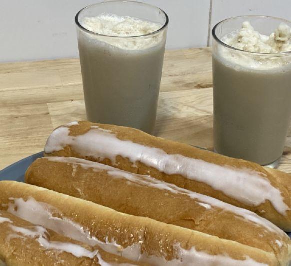 Horchata mixta como la de las heladerías