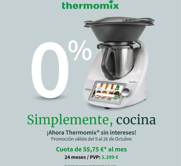 Compra tu Thermomix® Tm6 con el ¡0% de intereses! en 24 cuotas de 55,75 €