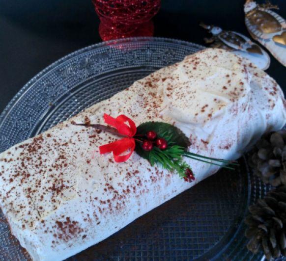 Cómo preparar un Tronco de Navidad nata-trufa en Thermomix®