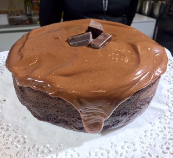 Pastel Vegano de Chocolate y café con Thermomix®