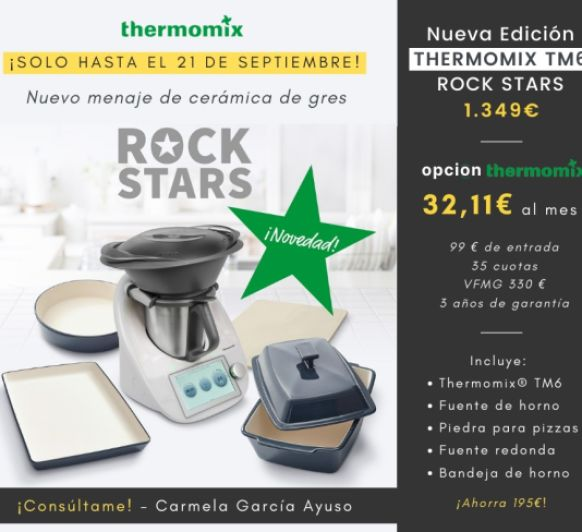 Compra tu Thermomix® Tm6 con la Edición RockStars (195 € de regalo)