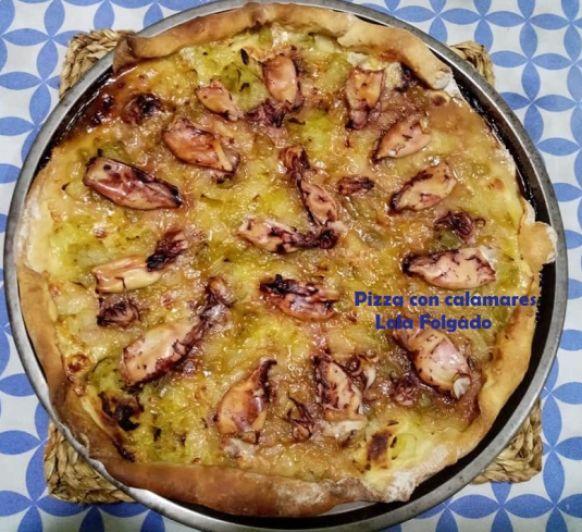 PIZZA CON CALAMARES
