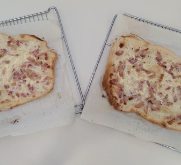 Pizza Flambeada Alsaciana