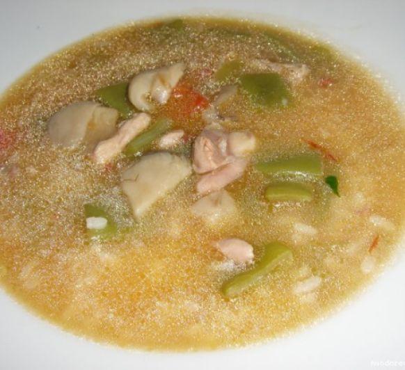 Rissoto con pollo, verduras y champiñon