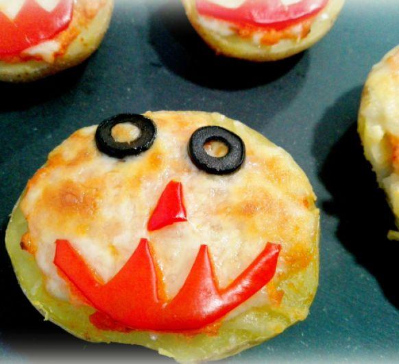 Patatas monstruosas para Halloween