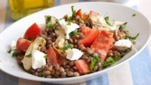 Mis recetas-Ensalada de lentejas-Dieta mediterranea