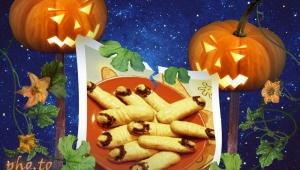 Galletas de dedos de bruja - Halloween -