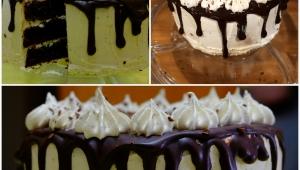 Drip cake de chocolate y moka